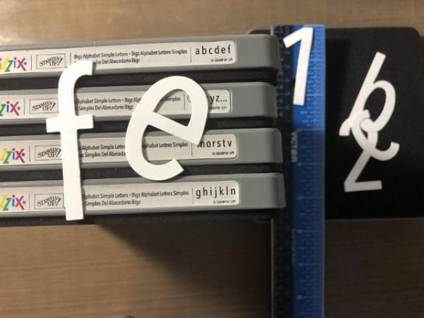 Simple Letters and Numbers Bigz set of 4 dies