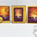 Sending Sunshine simple sunset with this distinktive stamp set.