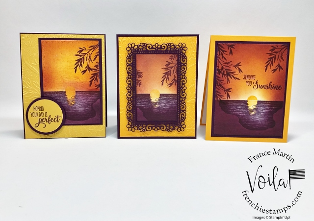 Sending Sunshine Simple Sunset With Distinktive Stamp Set
