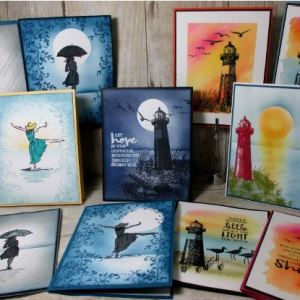 11 Beautiful Background Sponging and watercolor.