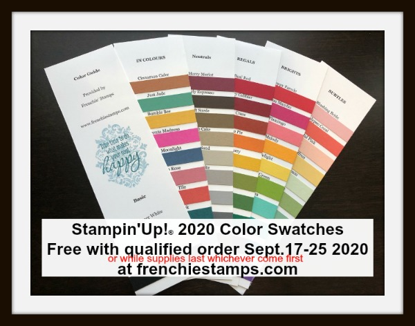 Stampin'Up!® Color Swatches With Qualified Order