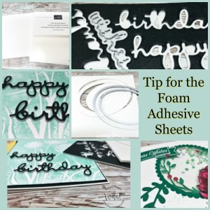 Tip For The Foam Adhesive Sheets