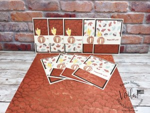 One Sheet Wonder for 9 simple cards with the designer paper Gilded Autumn.