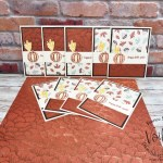 One sheet Wonder for 9 simple cards. Designer paper Gilded Autumn.