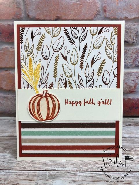 One sheet Wonder for 9 simple cards. Designer paper Gilded Autumn.