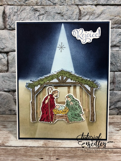Spotlight on Peaceful Nativity.