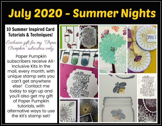 Summer Night Paper Pumpkin Extra Inspiration