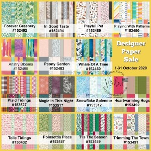 Stampin'Up! Designer Paper On Sale.