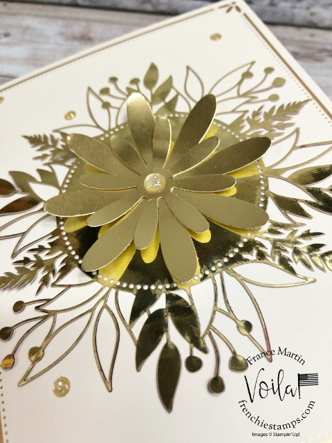 Daisy Punch and the Forever Gold Laser Cut paper.