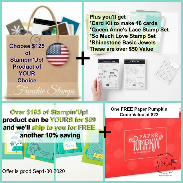 Get over $195 of Stampin'Up! product for only $99 plus free shipping.