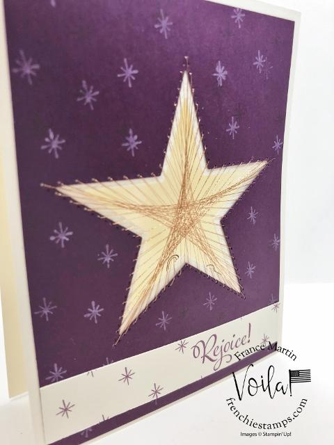 String Art with Stitched Star Dies.