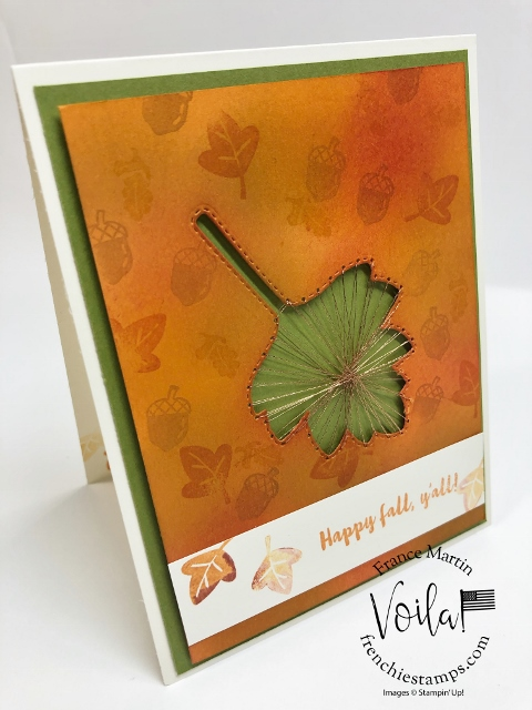 String Art with Stitched Leaves Dies