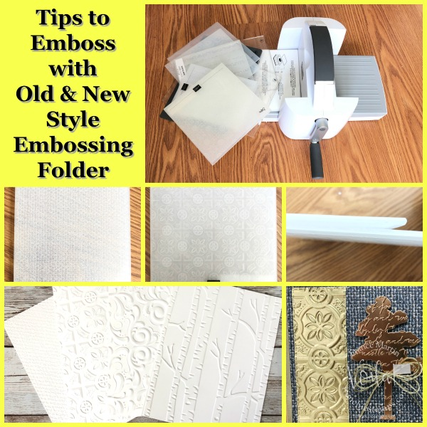 All about Embossing with the Stampin'Cut and Emboss.
