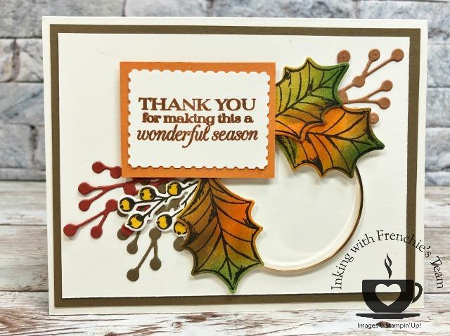 Poinsettia Petals for fall card.