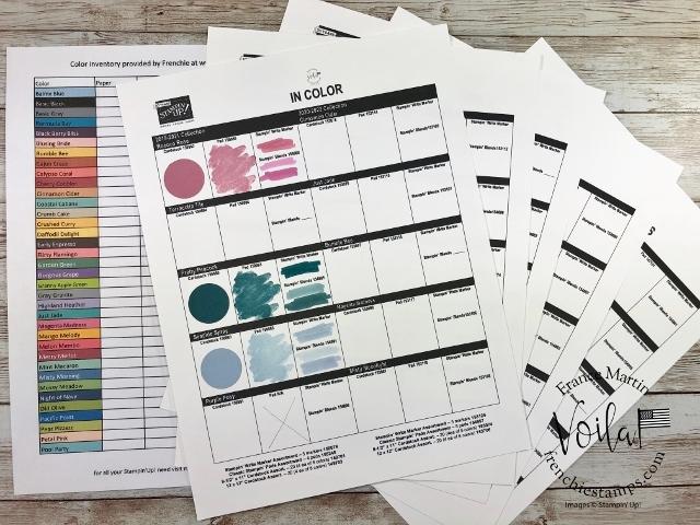 Stampin'Up! Color sampler color chart download,