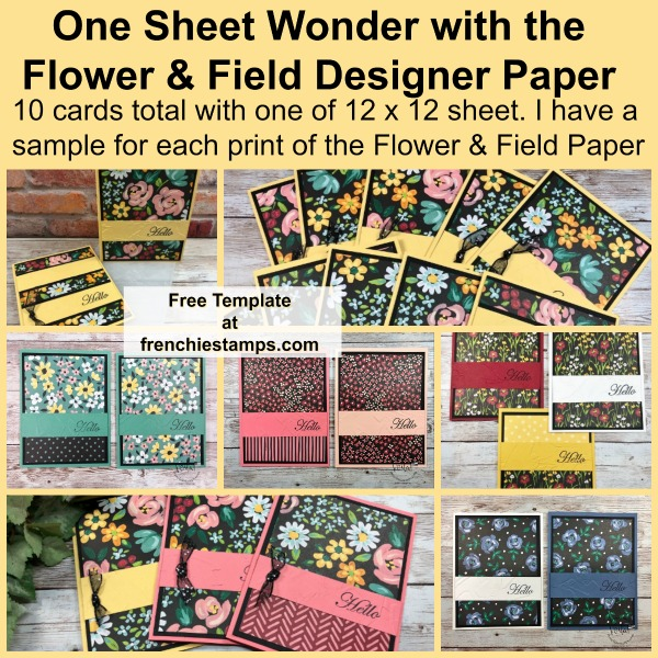One Sheet Wonder 10 Cards with Flower & Field Designer Paper