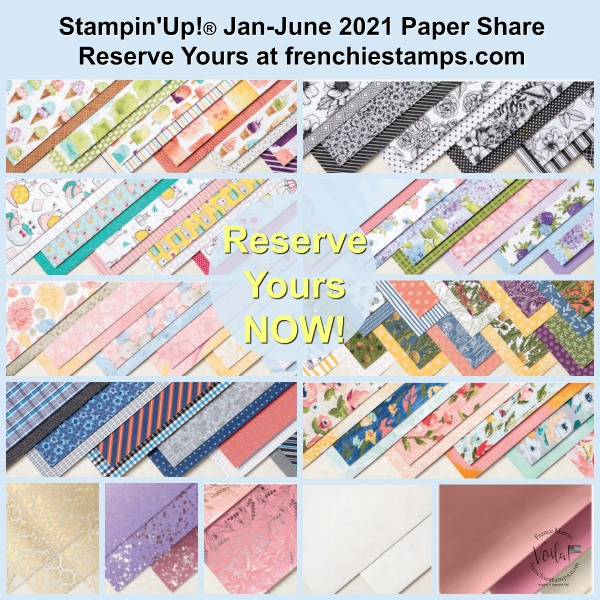 Designer Paper Share Stampin'Up! catalog Jan-June 2021