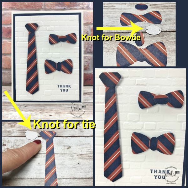 Tie and Bowtie simple card with the Suit and Tie Dies.