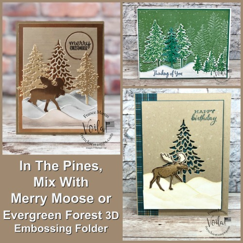 In The Pines, Merry Moose, Evergreen Forest 3D Folder