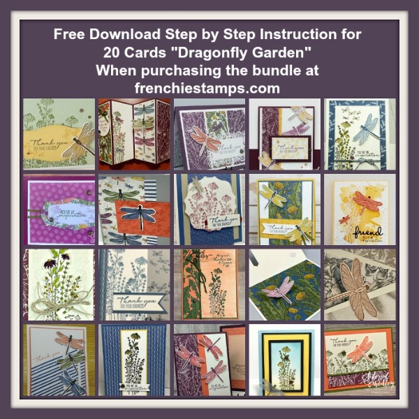 Twenty Cards with the Dragonfly Garden Bundle