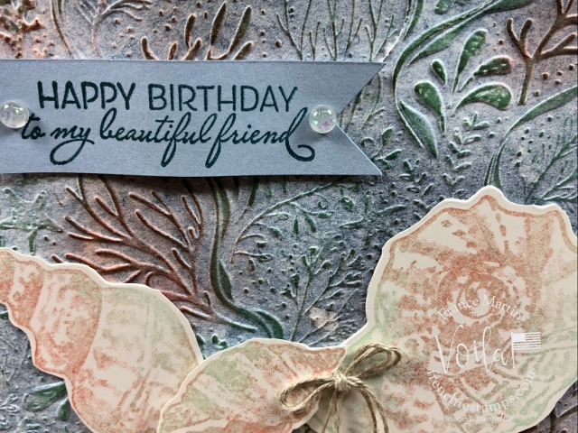 Friends Are Like Seashells with Seabed Embossing Folder.
