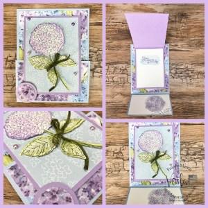 Hydrangea Haven Flip Fold Card