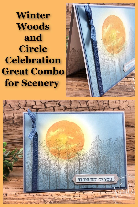 Full Harvest Moon Scenery Card