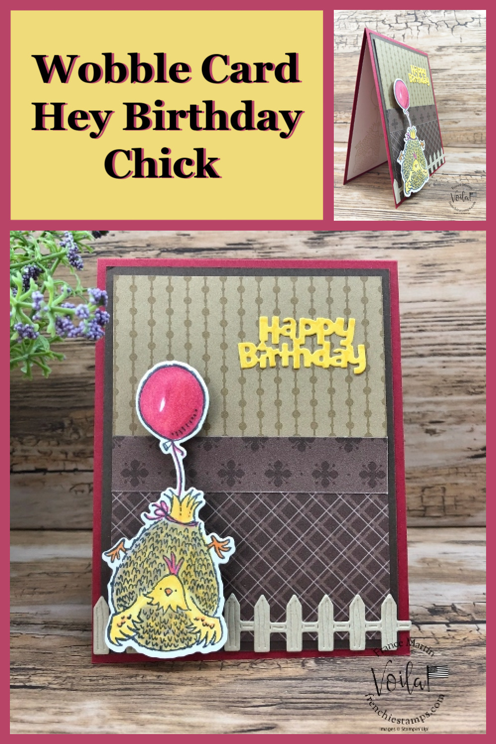 Wobble Card with Hey Birthday Chick