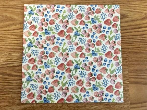 Berry Delightful Designer Paper