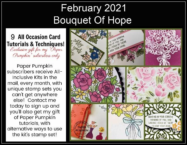 Bouquet Of Hope February 2021 Paper Pumpkin Extra