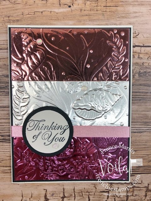 Love you Always Foil Sheet with the Seashells Embossing Folder for a Trio.