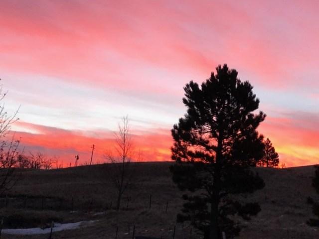 Windmill Sunrise Cheyenne Wyoming