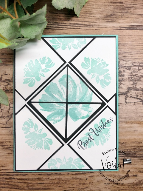 Tile Card with Art Gallery stamp set.