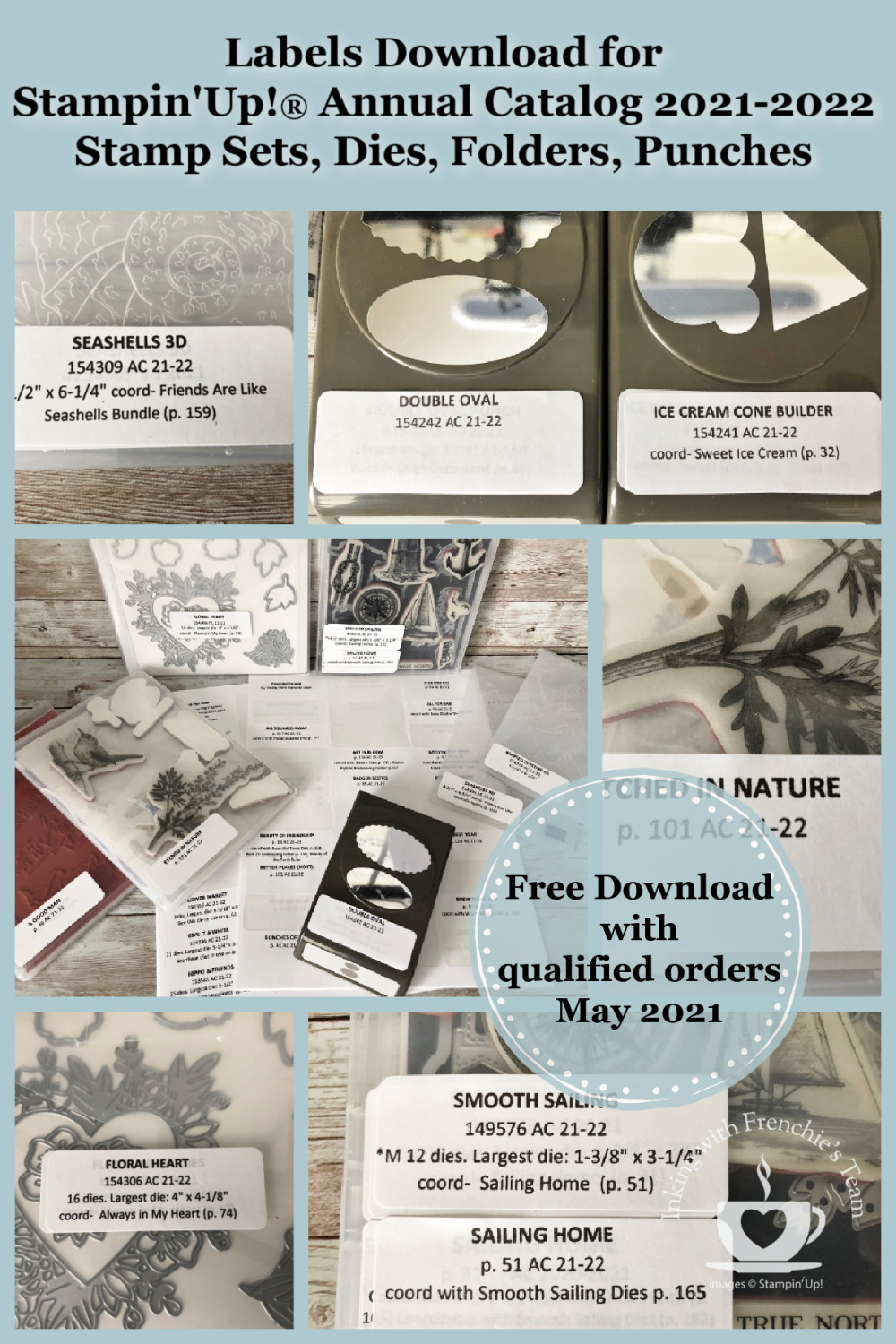 Labels To Organize Stampin\'Up! Products 2021-2022 Annual Catalog.