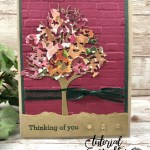 A quick card with Beautiful Trees Die and Beauty Of Friendship stamp set.