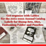 Labels To Organize Stampin