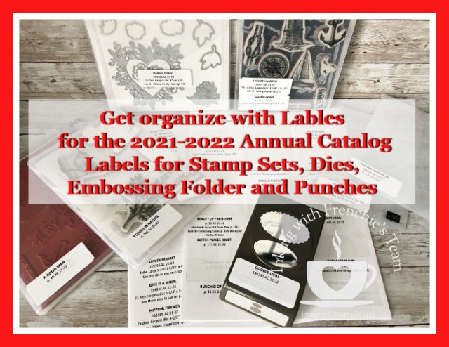 Labels To Organize Stampin'Up! Products From The 2021-2022 Annual Catalog