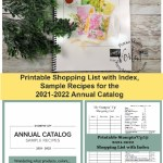 2021-2022 Annual Catalog Shopping List with Index and sample recipes.