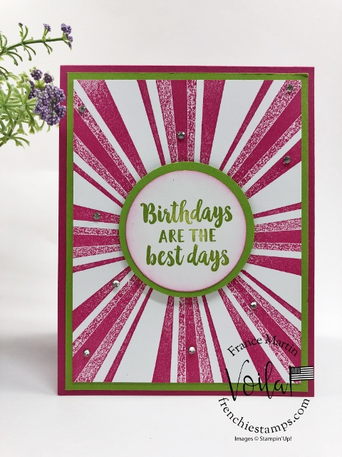 Simple Sunburst Card with After the Storm stamp set.