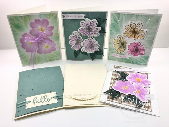 Tip for the Art In Bloom Bundle Hybrid Embossing Folder.