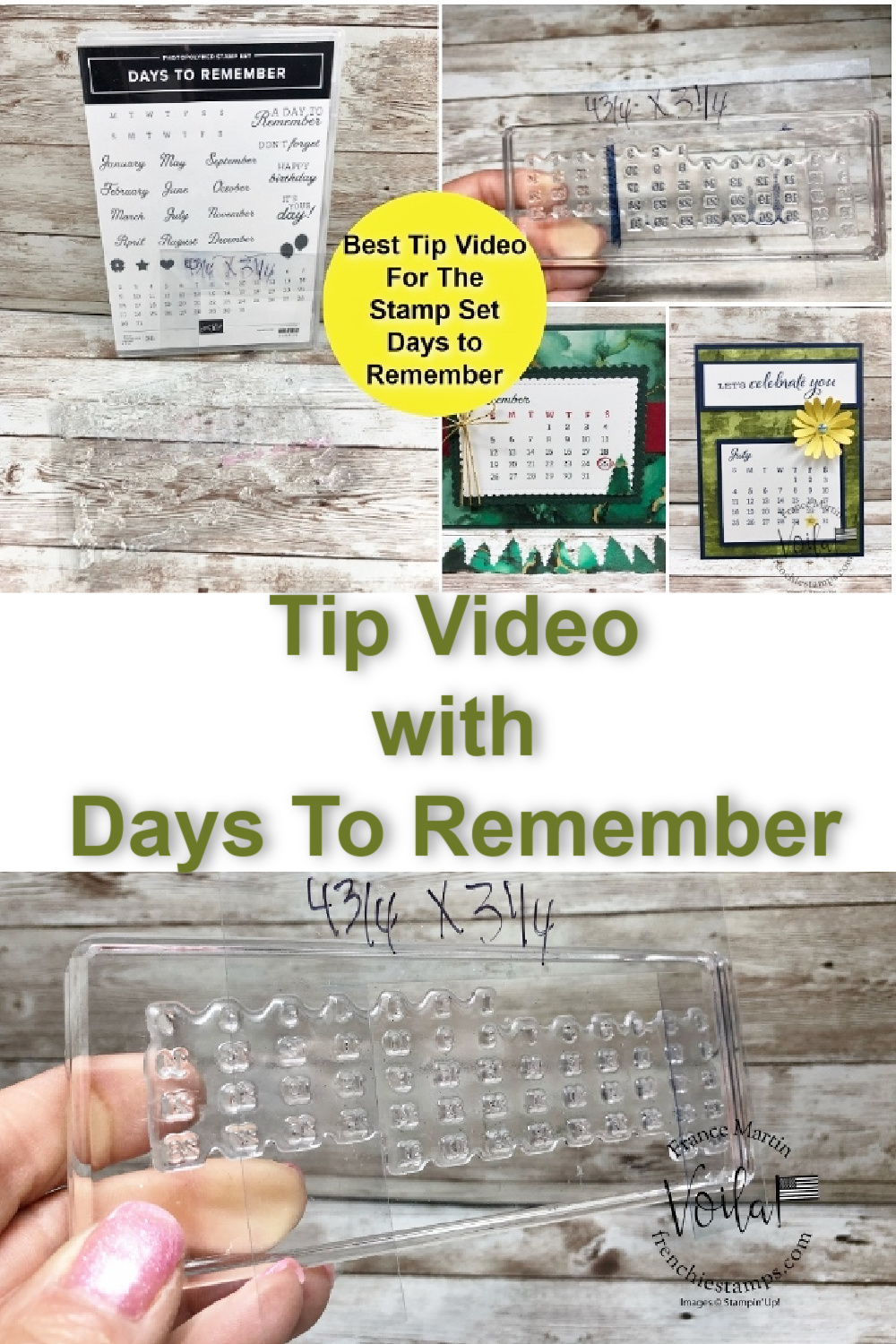 Best Tip Video For Days To Remember Stamp Set