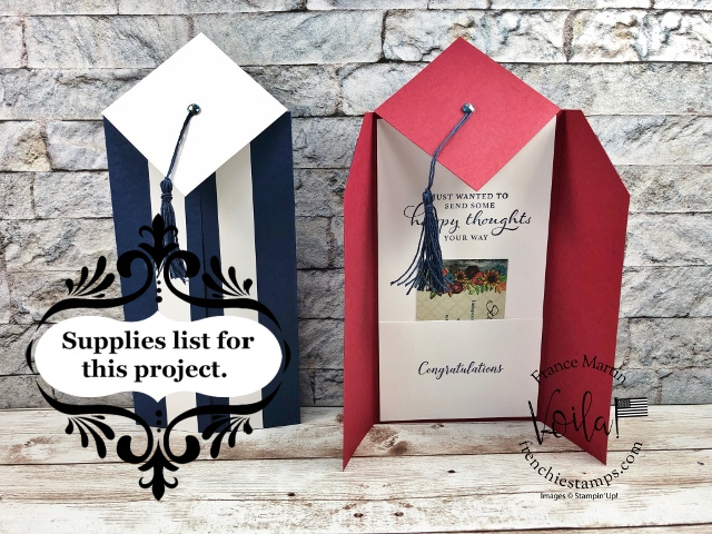 Slim Graduation Card with gift card holder.