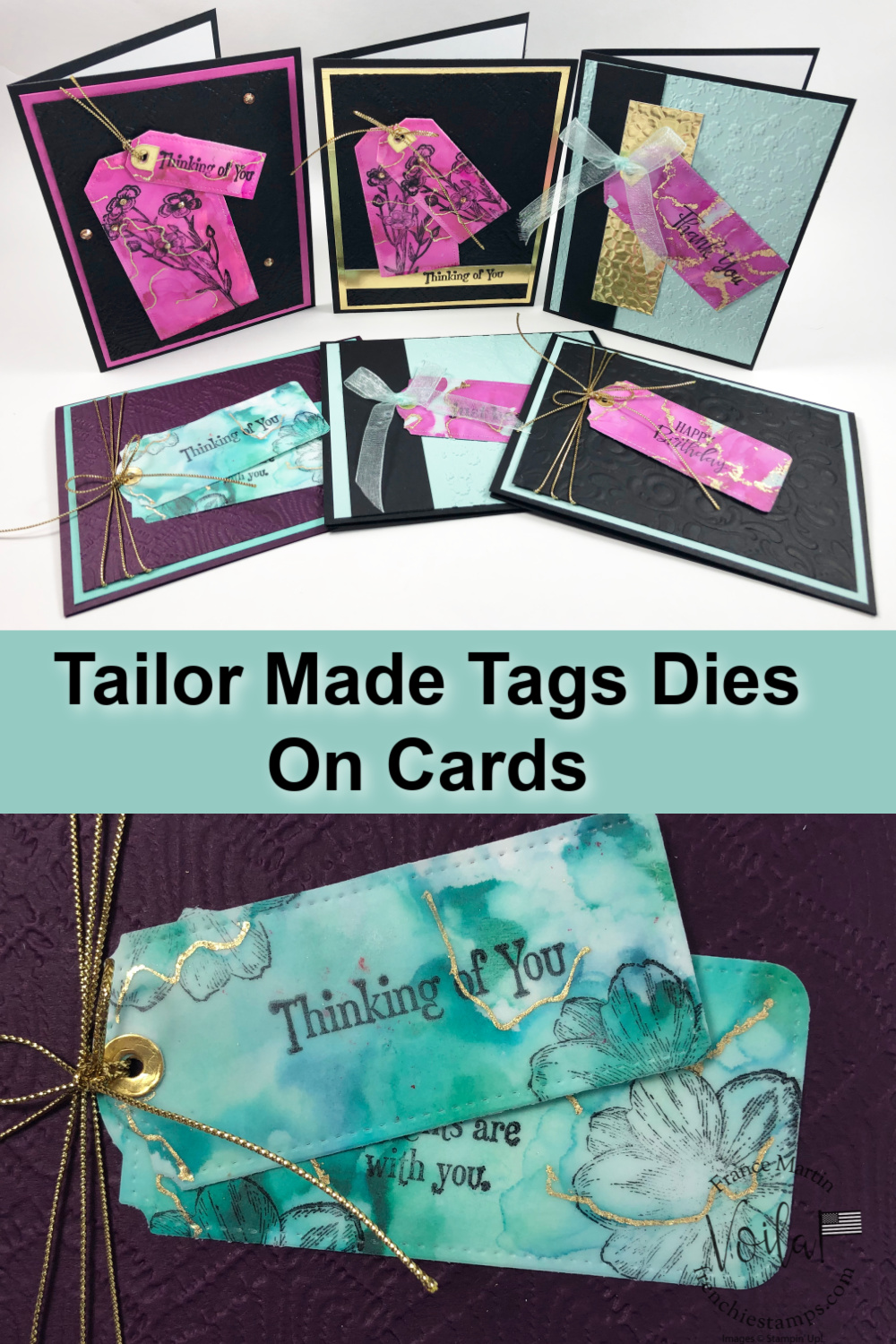 Tailor Made Tags Dies On Cards