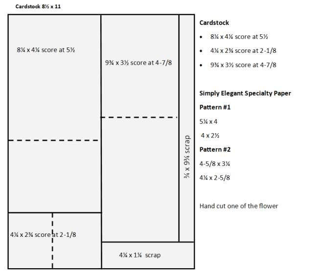 Template for Triple Fold Interlock card