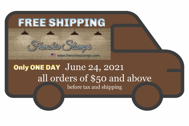 Free Shipping all Stampin'Up! order of $50 or more on June 24th 2021