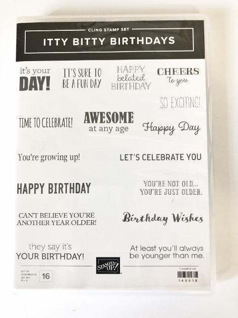 Itty Bitty Birthdays stamp set