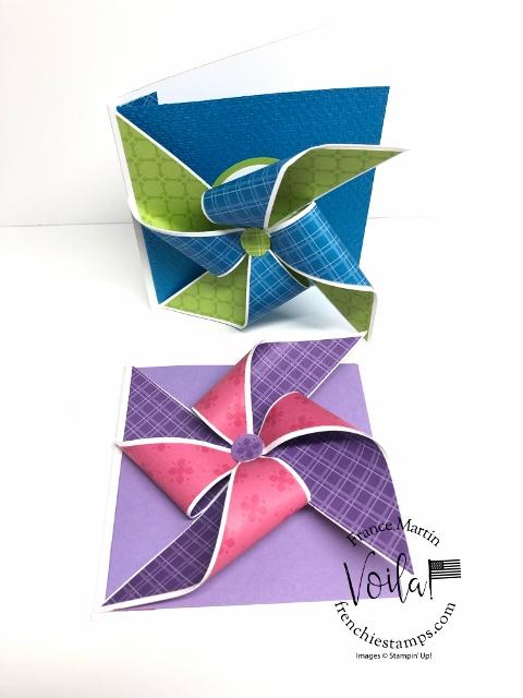 Card Fun Fold Pinwheel Card.