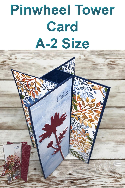 Fun Fold Pinwheel Tower Card A-2 Size