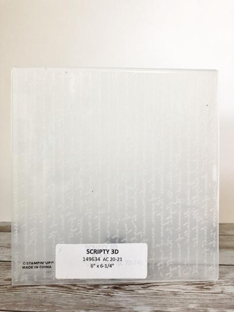 Scripty 3D Embossing Folder