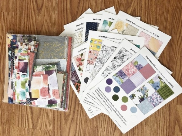 Spring 2021 Designer Paper Chart and Bit and Pieces of Paper